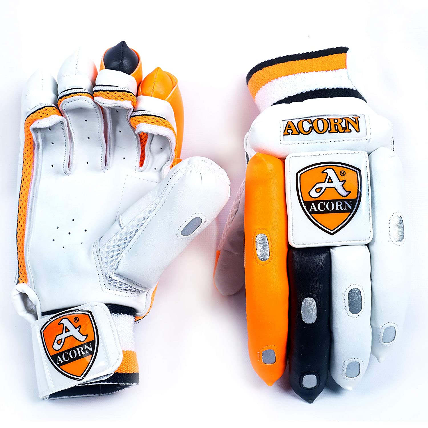 Batting Gloves Good Quality - Orange / White