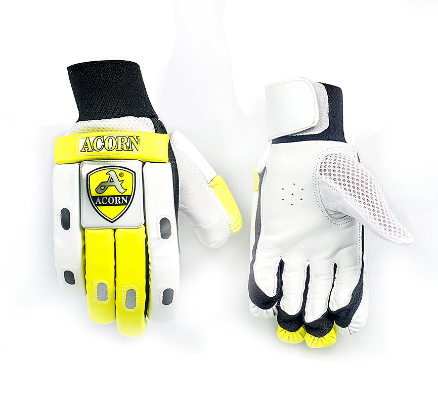 Batting Gloves - Yellow / White