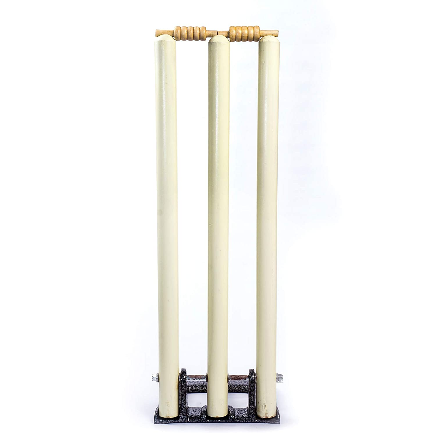 Wooden International Standard Size Complete Stumps Set with Heavy Duty Spring Stand Base (Top Quality)