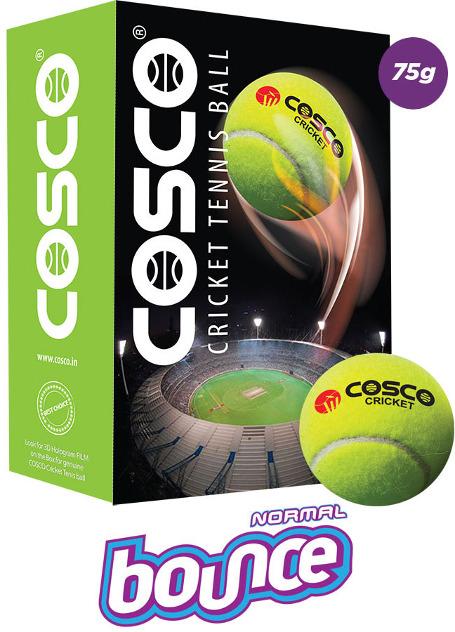 Cosco Cricket Tennis Ball (Pack For 6)