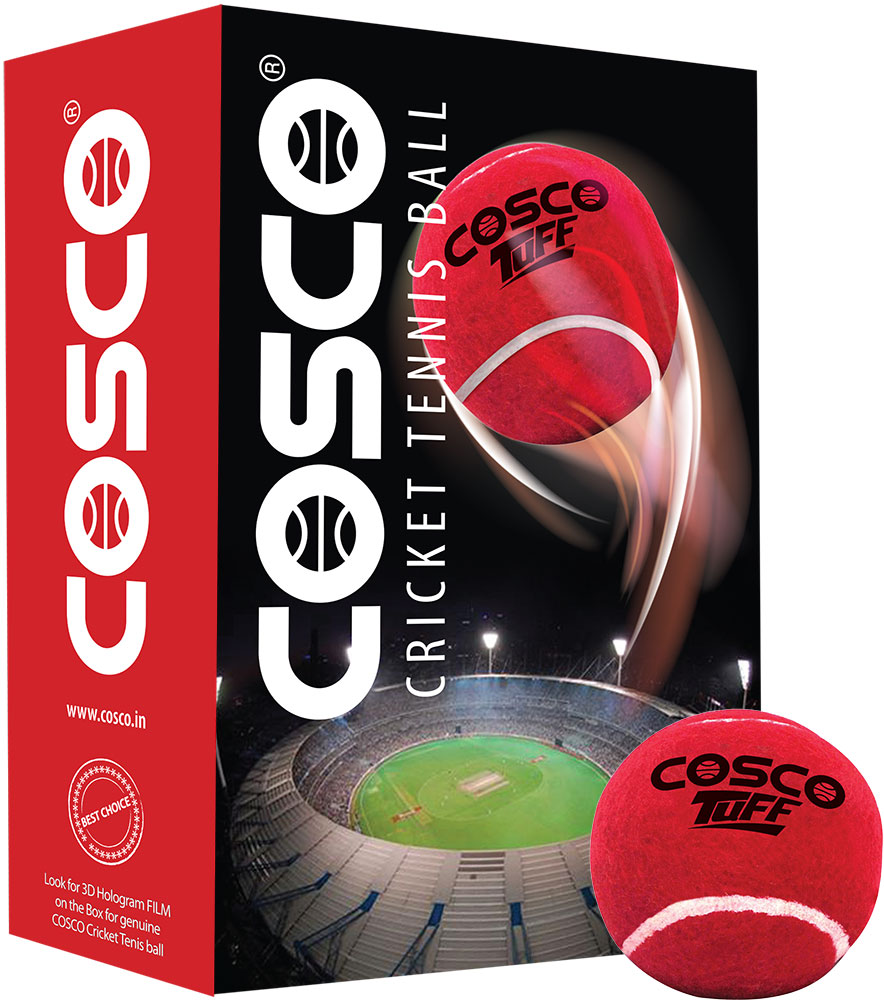 Cosco Tuff Cricket Tennis Ball (Pack for 6)