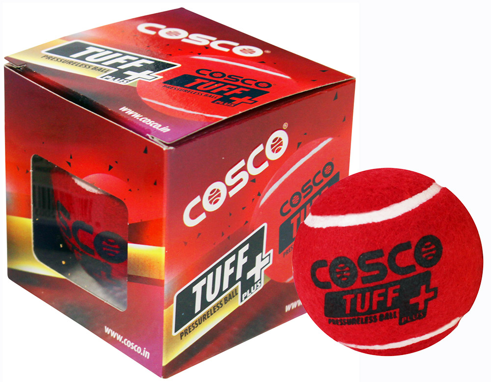 Cosco Tuff + Cricket Tennis Ball (Pack for 6)