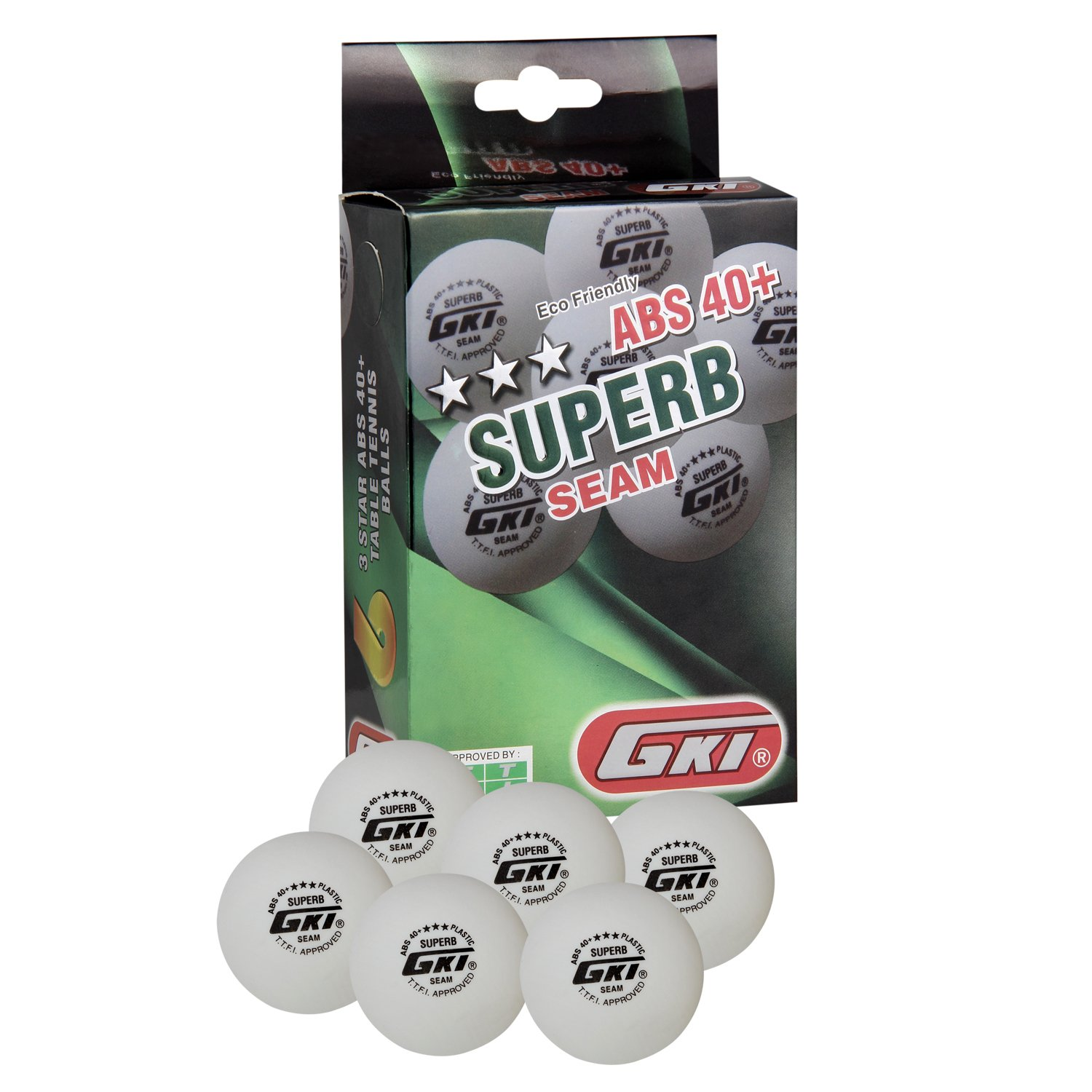 GKI Superb Table Tennis Balls - Pack for 6