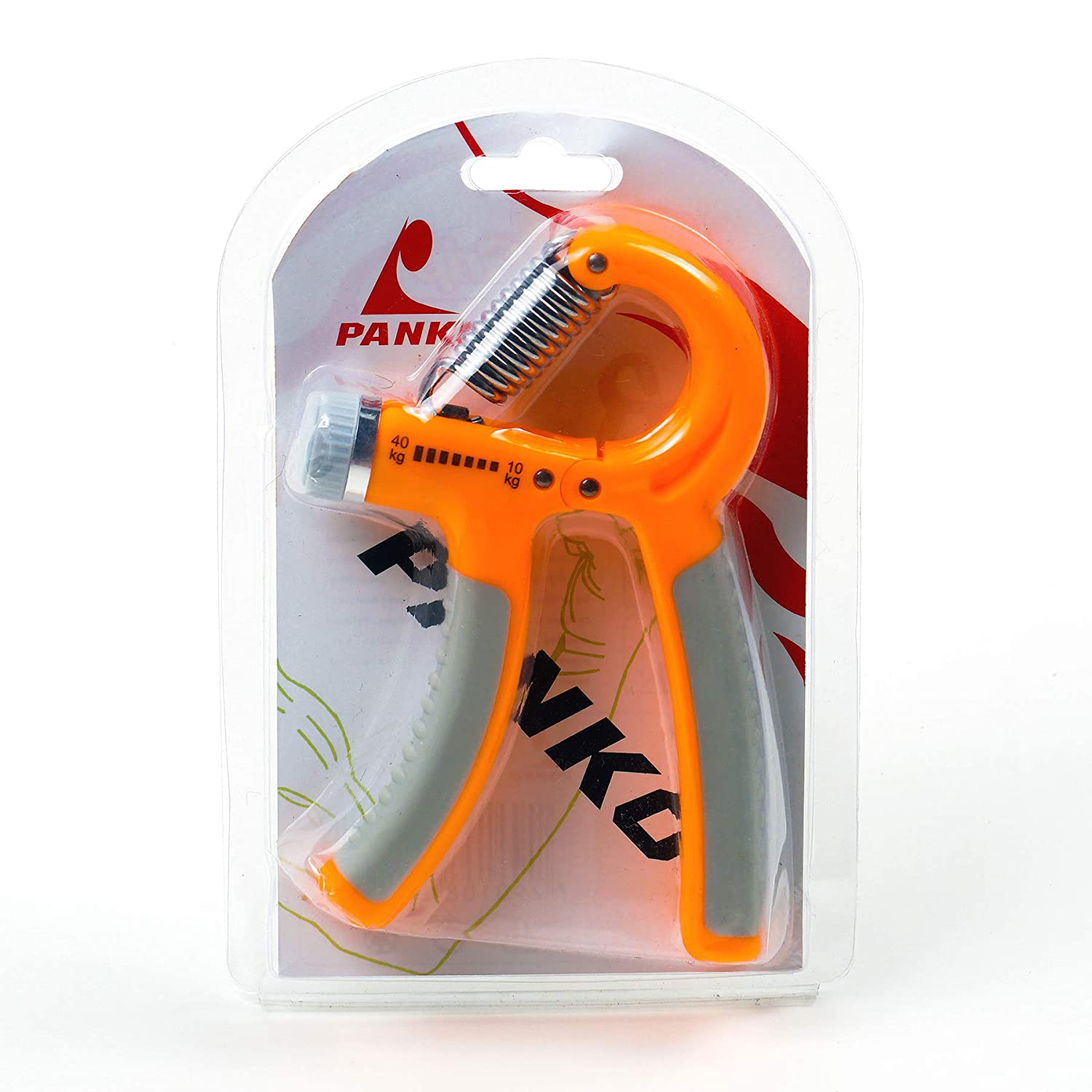 Power Grip (Orange) - 10 Kg To 40 Kg - Adjustable
