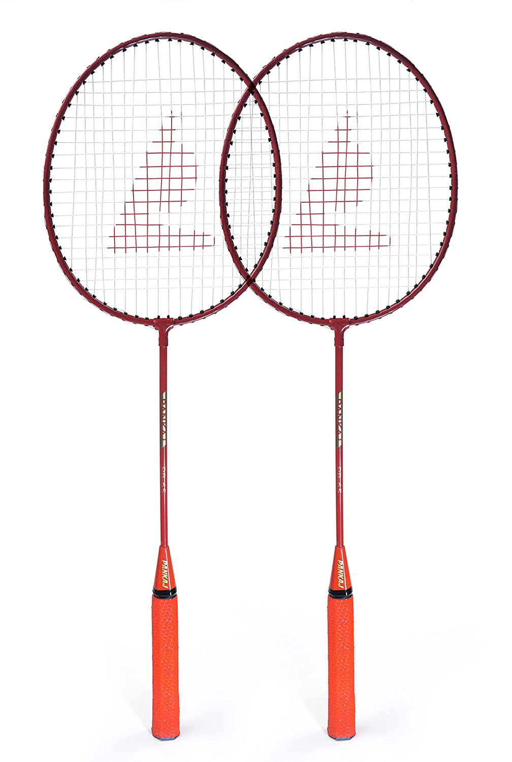 Badminton Racket - PB 65 - Pack for 2 (Orange)