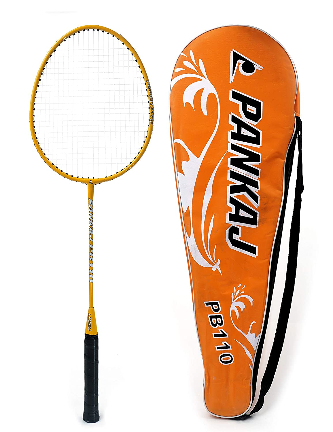 Badminton Rackets - PB 110 - Pack for 2 (Orange)
