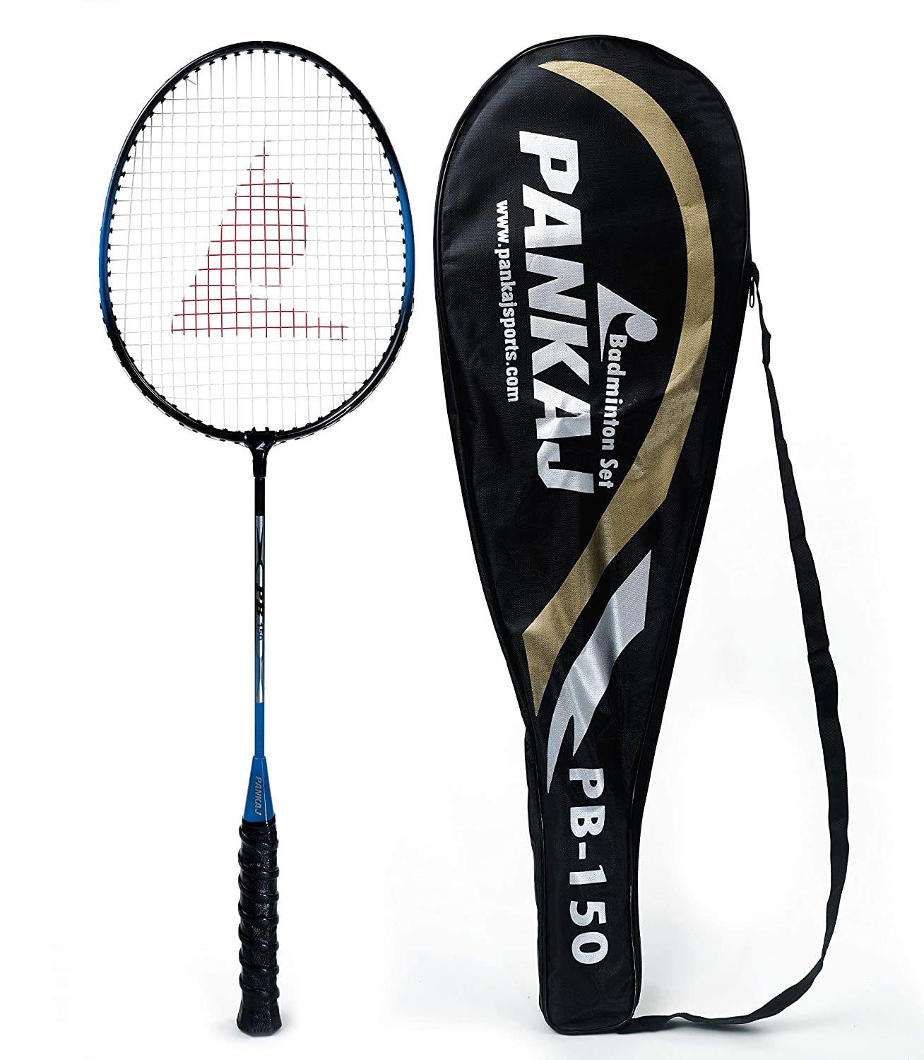 Badminton Rackets - PB 150 - Pack for 2 (Blue)