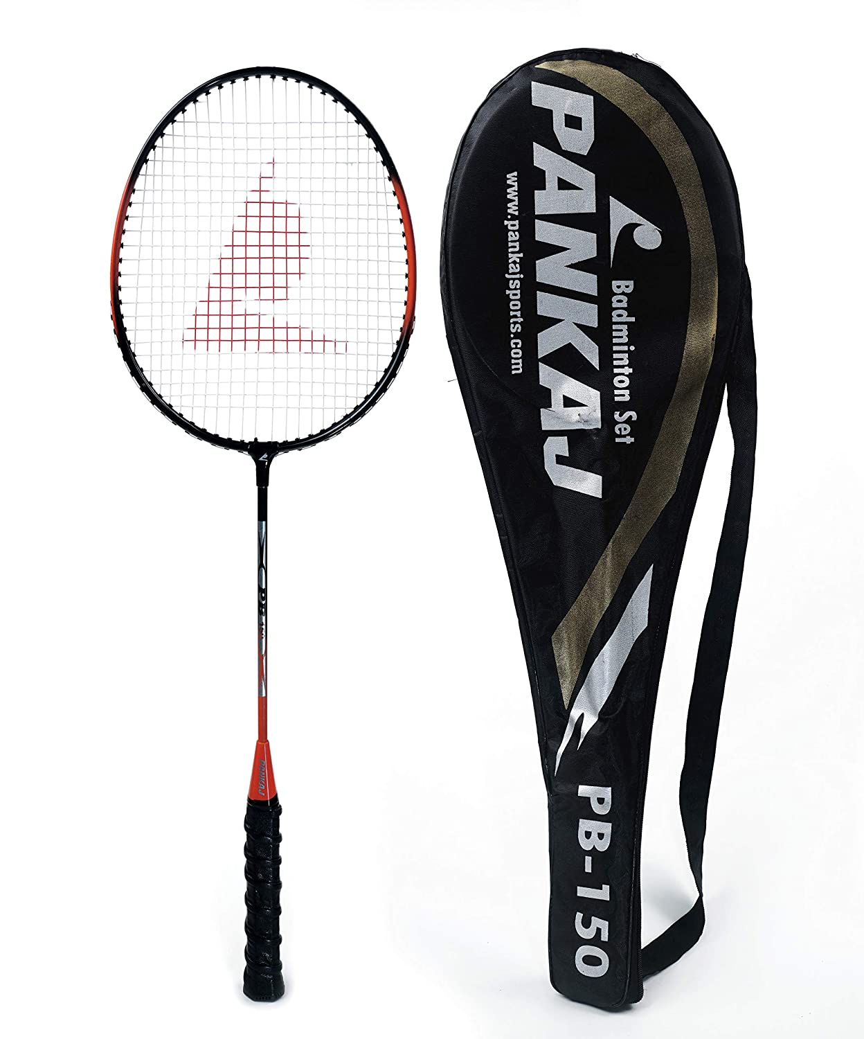 Badminton Rackets - PB 150 - Pack for 2 (Orange)