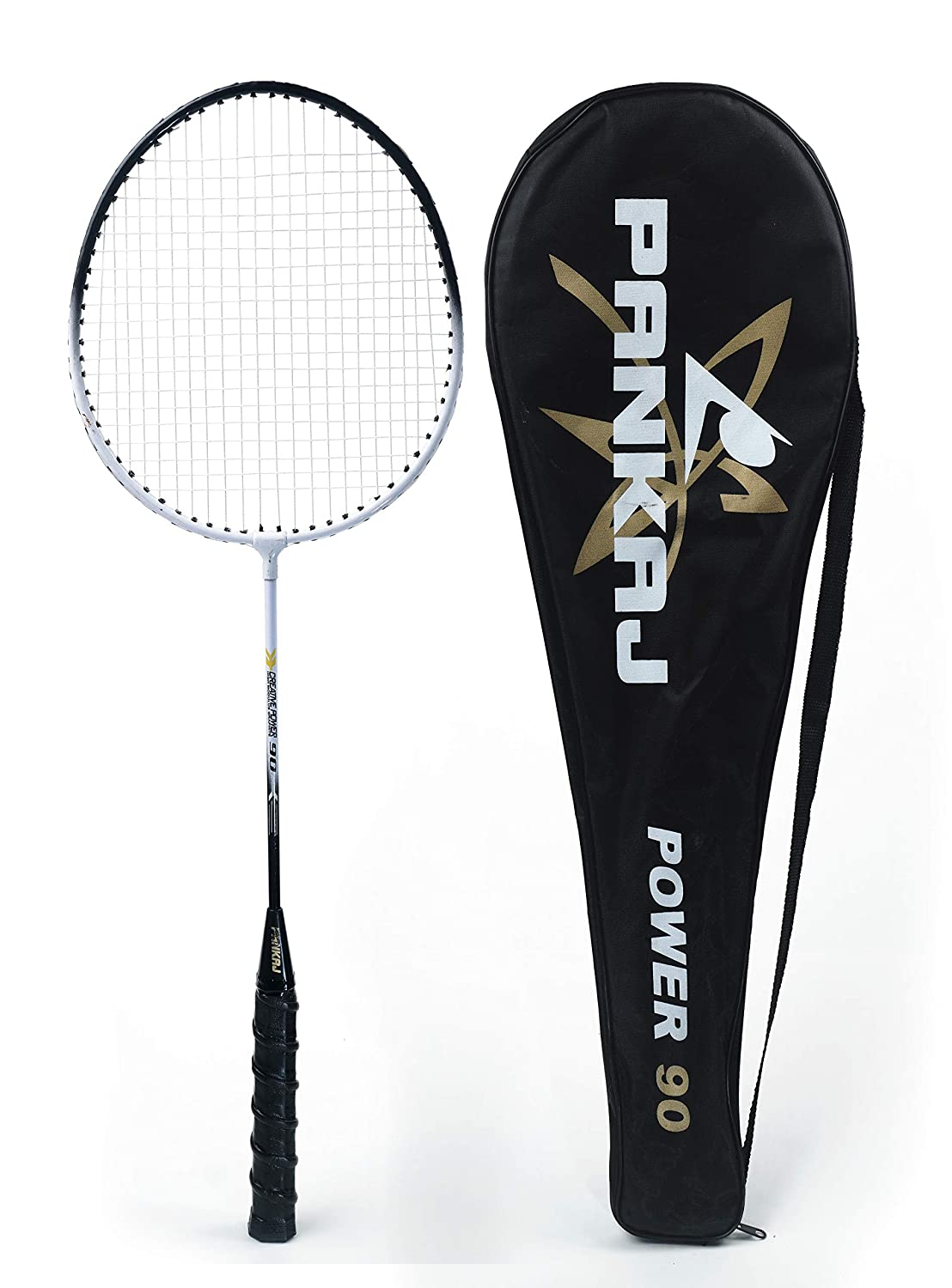 Badminton Rackets - Power 90 - Pack for 2 (Black)
