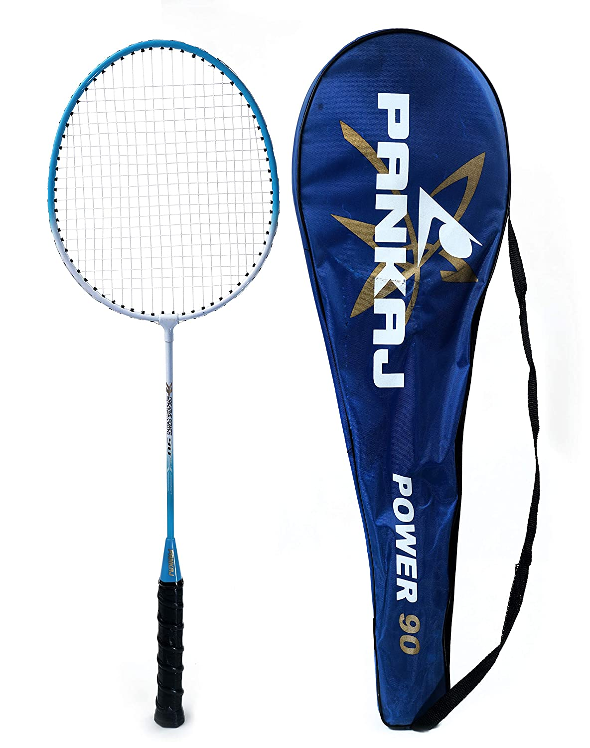 Badminton Rackets - Power 90 - Pack for 2 (Blue)