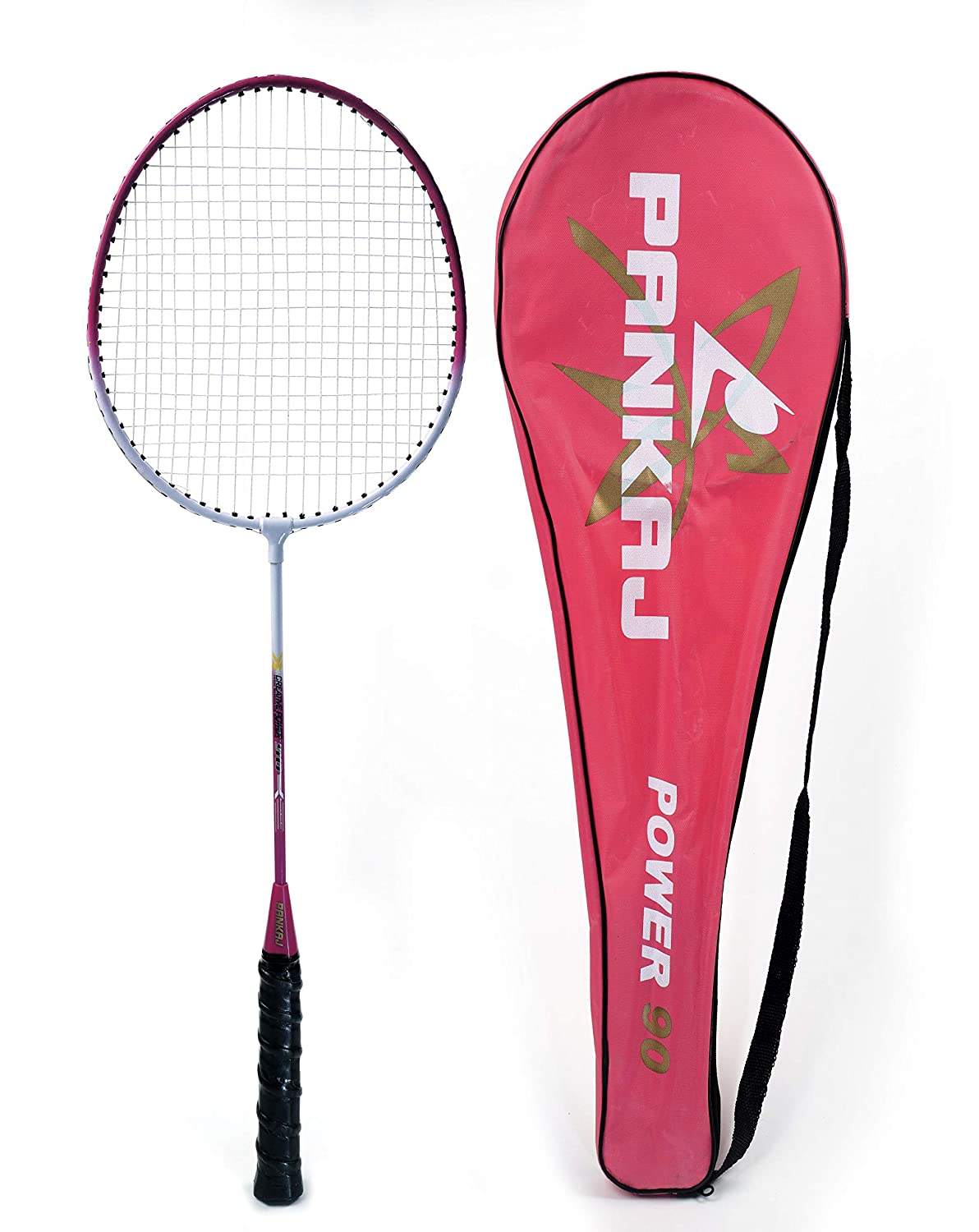 Badminton Rackets - Power 90 - Pack for 2 (Pink)
