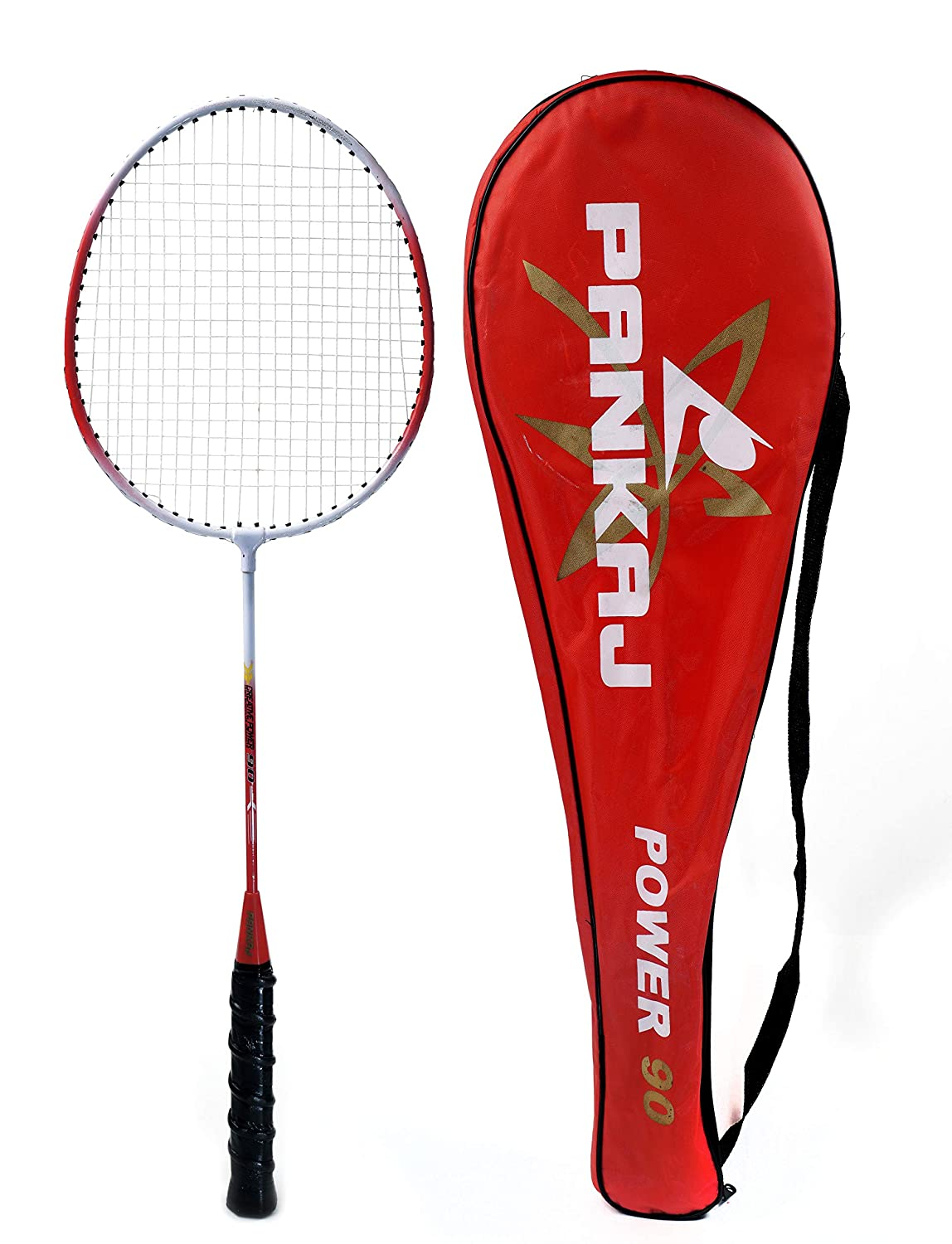 Badminton Rackets - Power 90 - Pack for 2 (Red)
