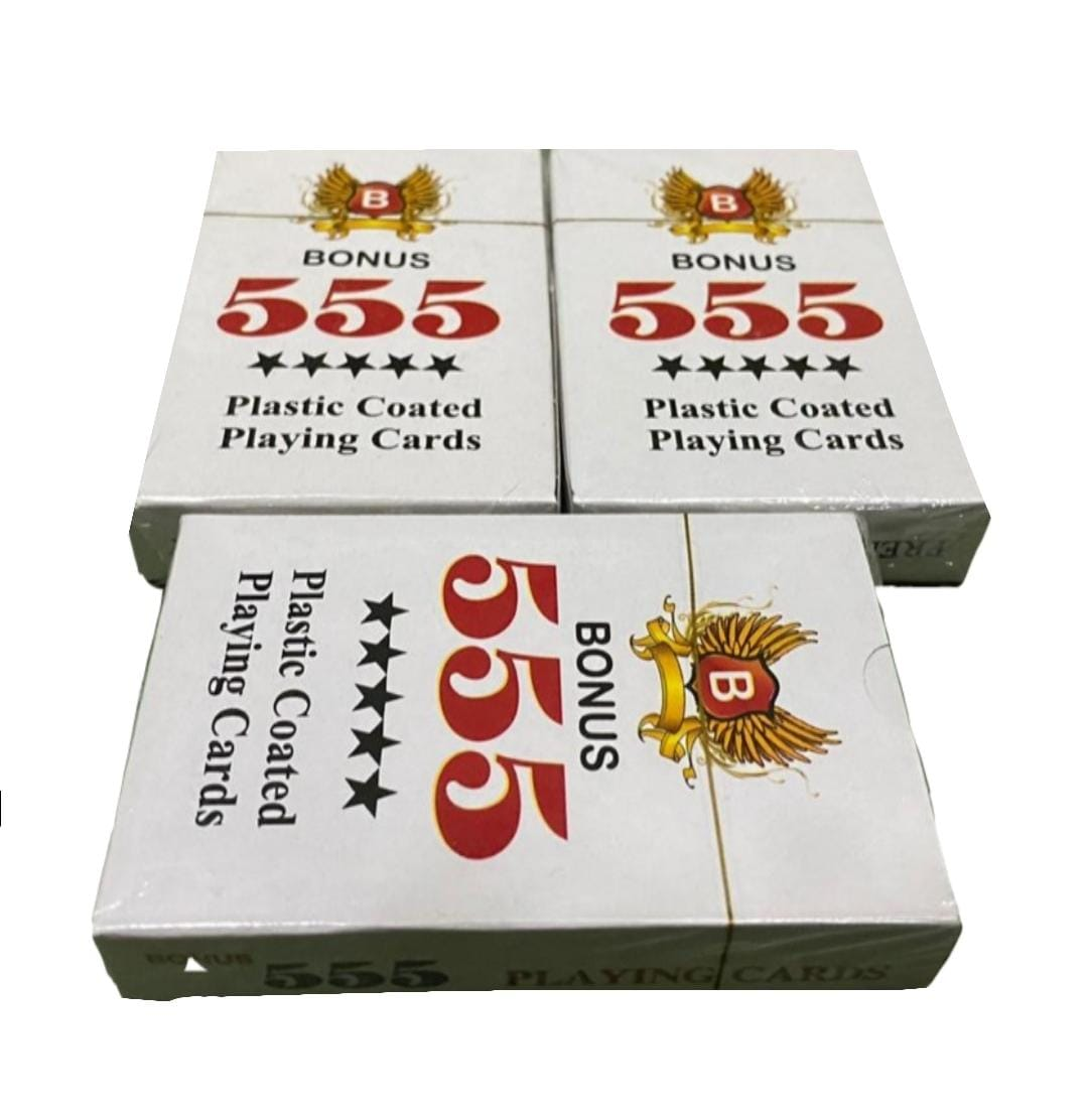 Playing Cards-555 ( Pack For 3 )