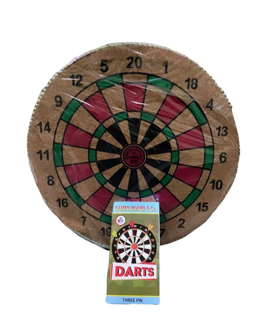 14-inch Dart Board with 3 Darts Set, Multi Color