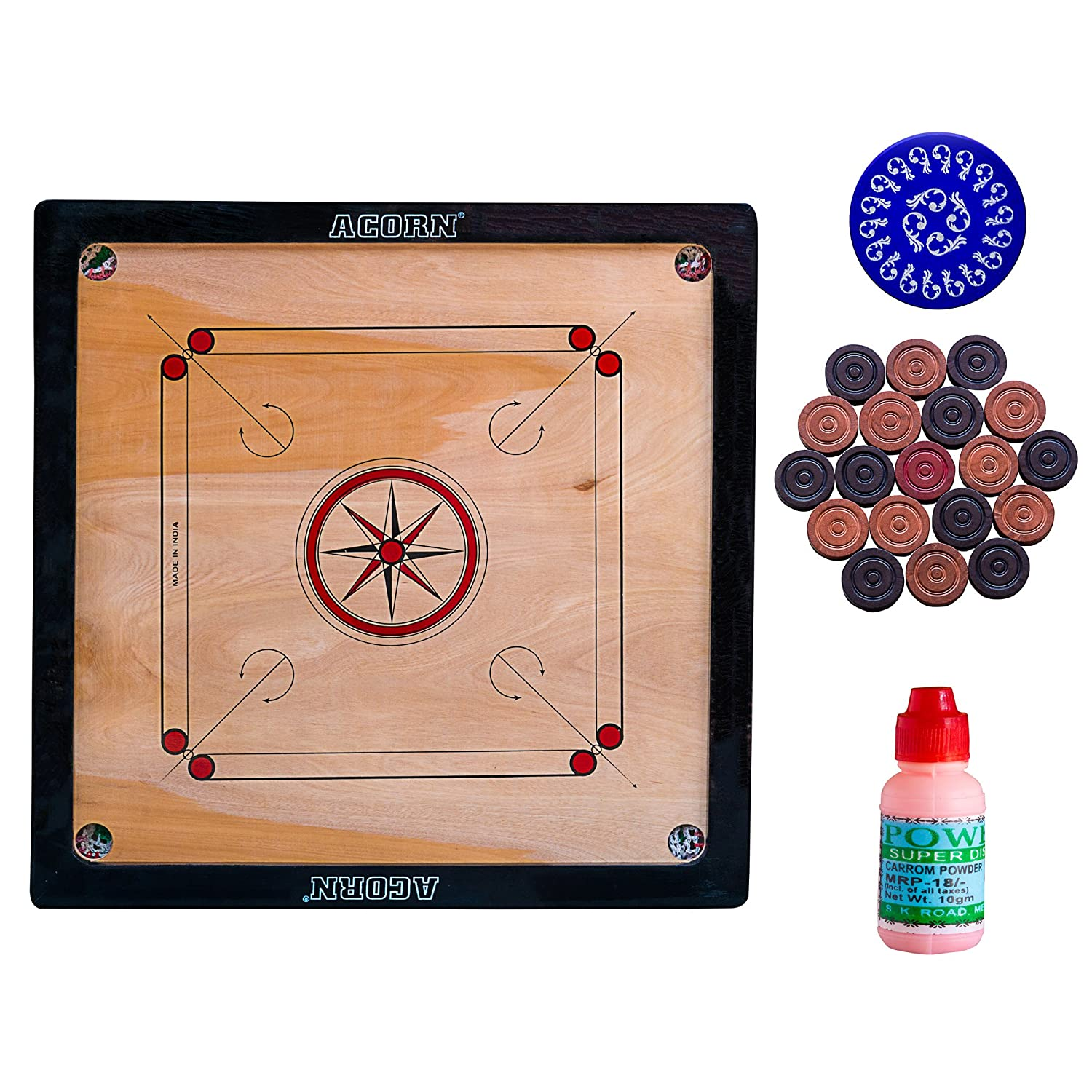 Wooden Carrom Board 25 x 25 Inch
