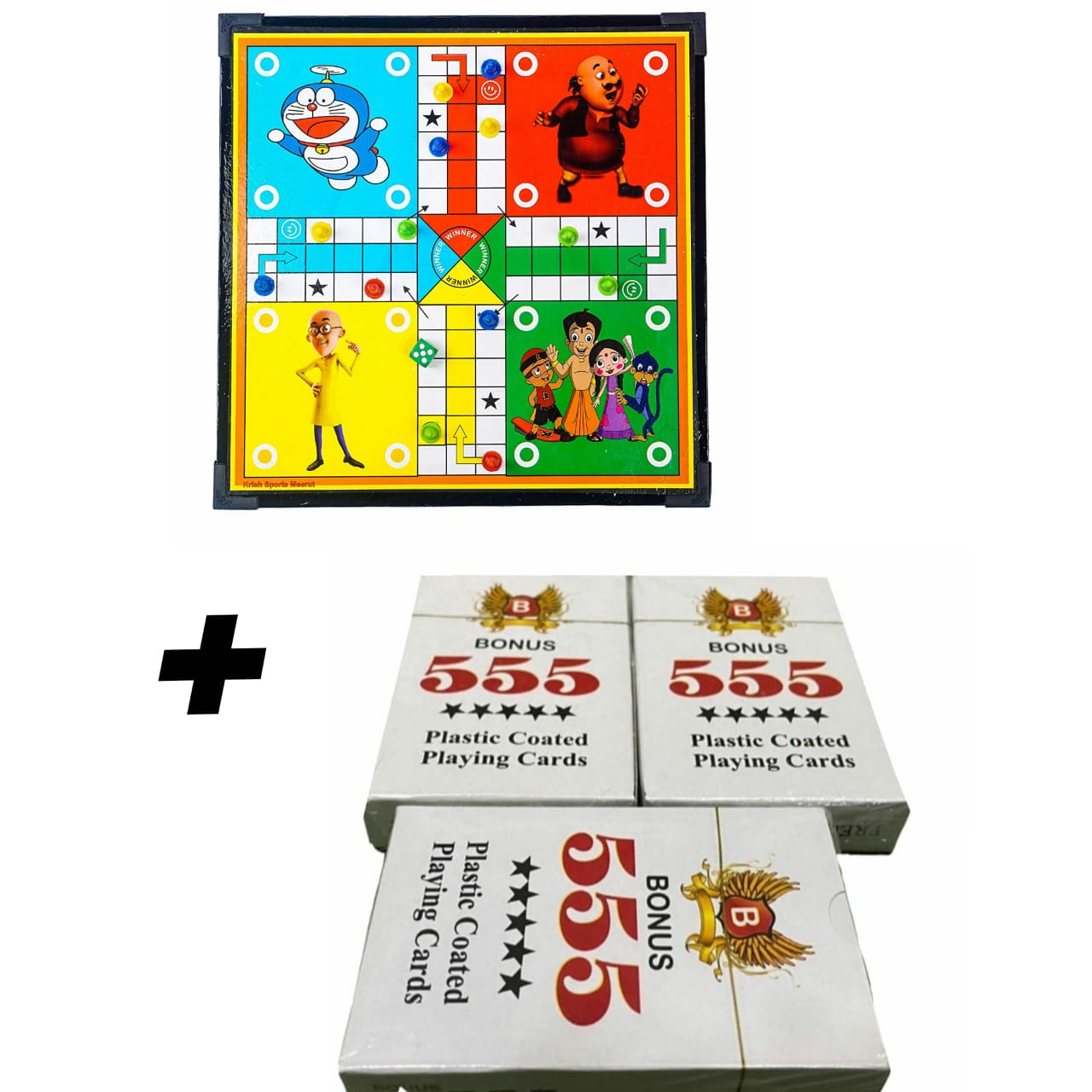 Ludo & Snake + Playing Cards ( Pack Of 3 ) Combo - Reasonable Rate