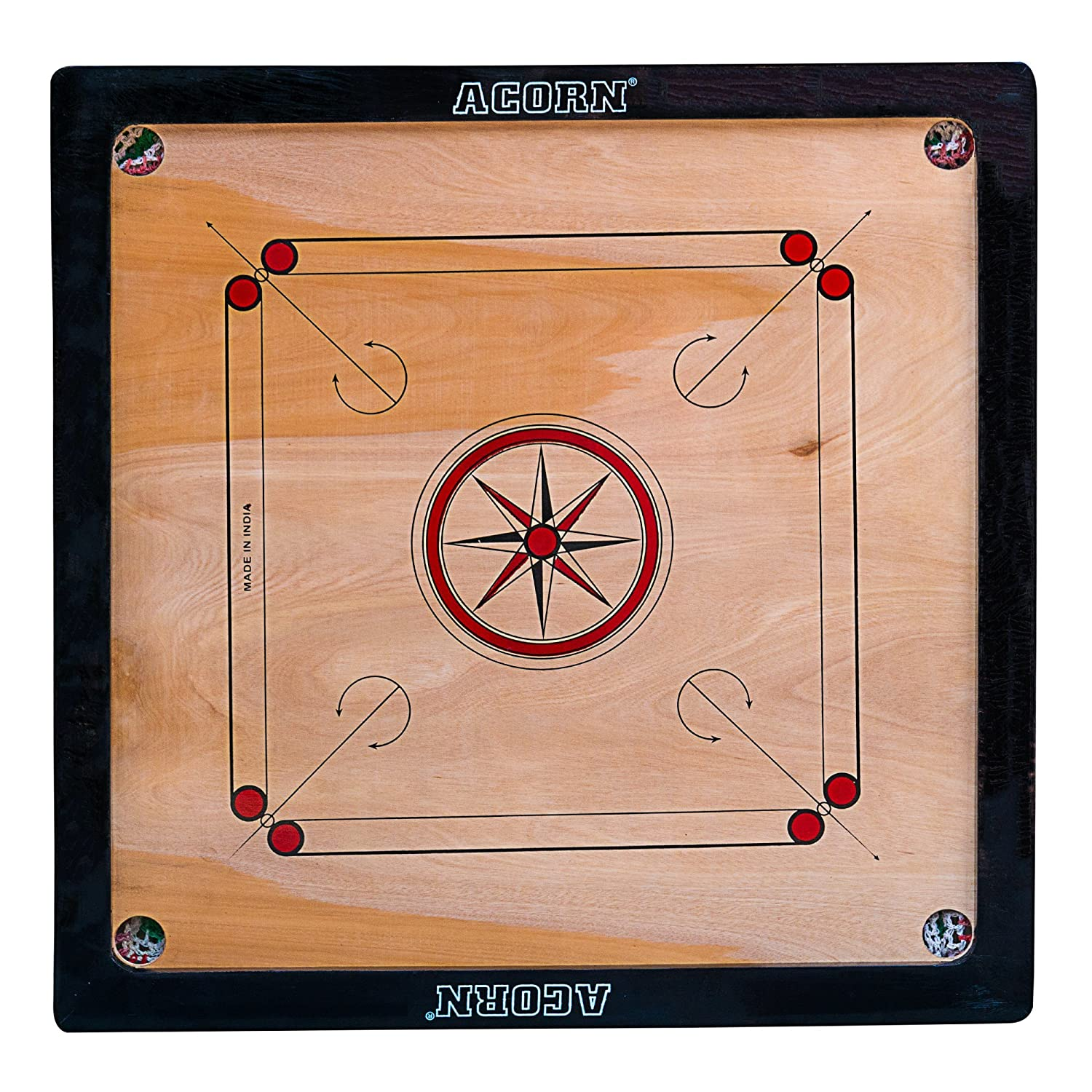 Acorn Large Size Carrom Board (32 x 32)
