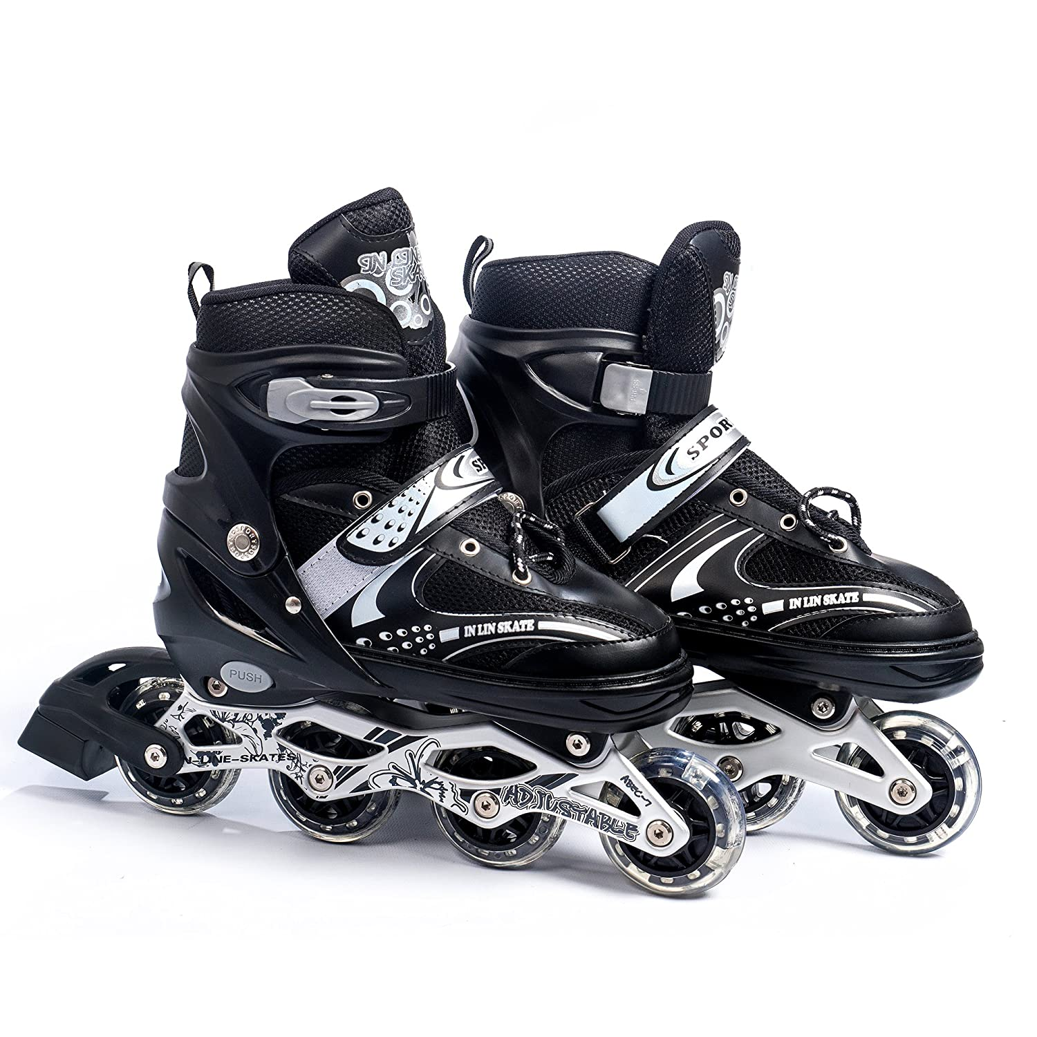 Carbon Steel Quad Roller Skates (6-9 UK)