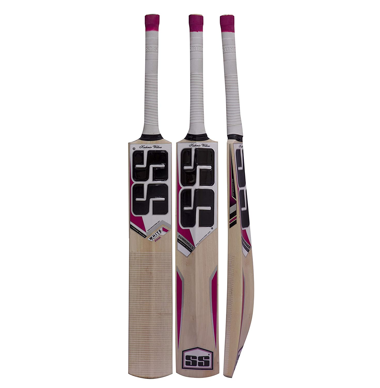 SS White Edition Pink Kashmir Willow Cricket Bat
